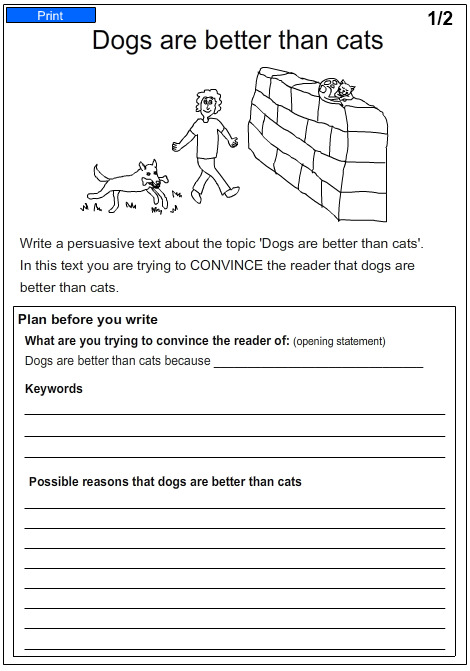 Free writing worksheets for first grade