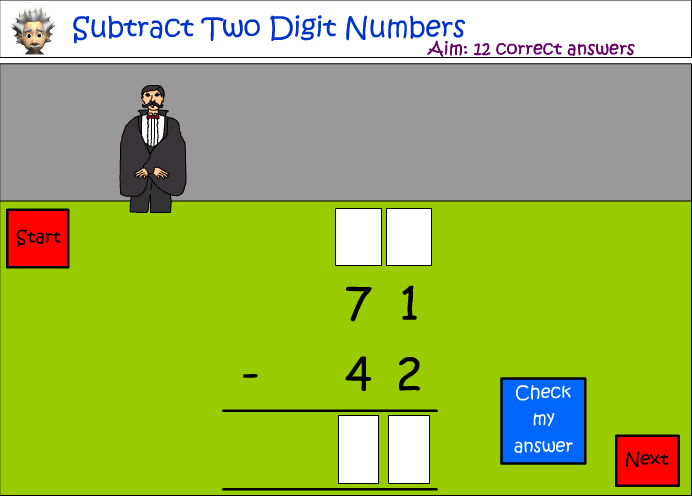 Subtraction - two digit numbers