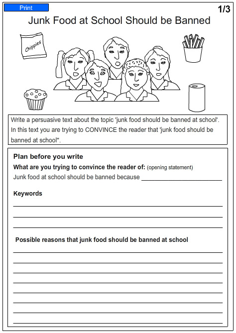 Year 4 Homework Sheets Literacy Test - image 6