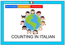 Counting to 10 in Italian