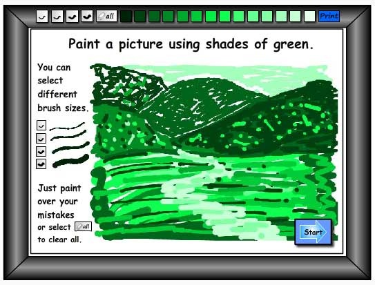 Painting With Shades of Green