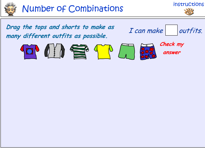 Identifying the number of combinations