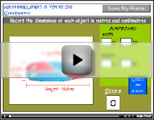 Recording length in metres and centimetres tutorial