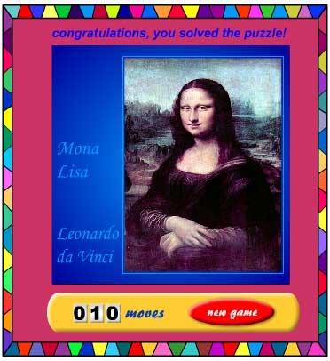 Mona Lisa Sliding Puzzle