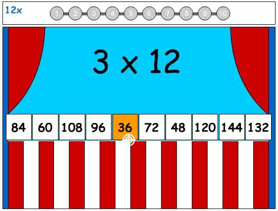 Times Tables 12x