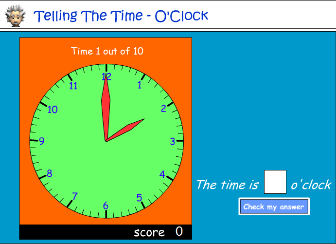 Reading an analog clock - o'clock - part 2