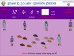 Share 12 equally