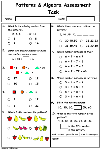 Patterns and Algebra Problem Solving