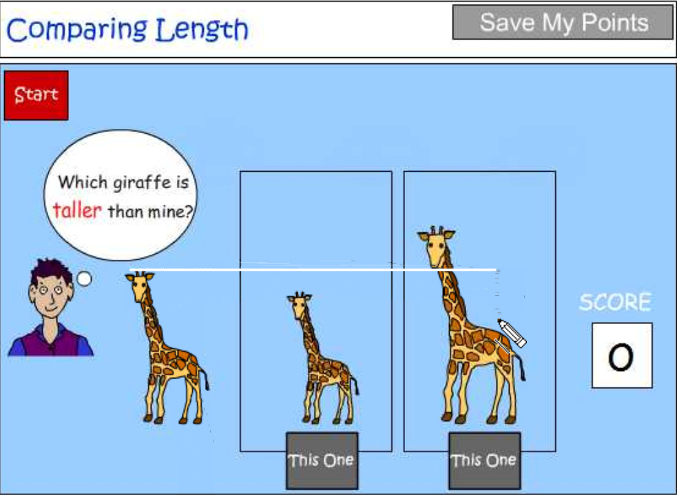 Language to describe and compare length tutorial