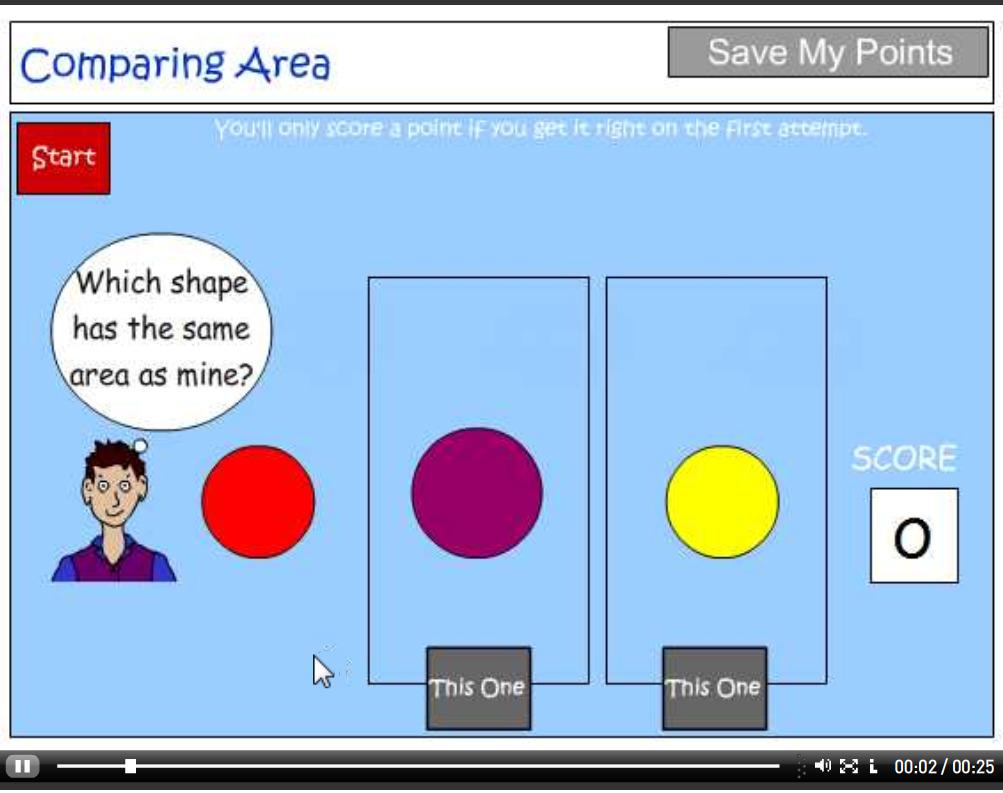 Comparing area tutorial