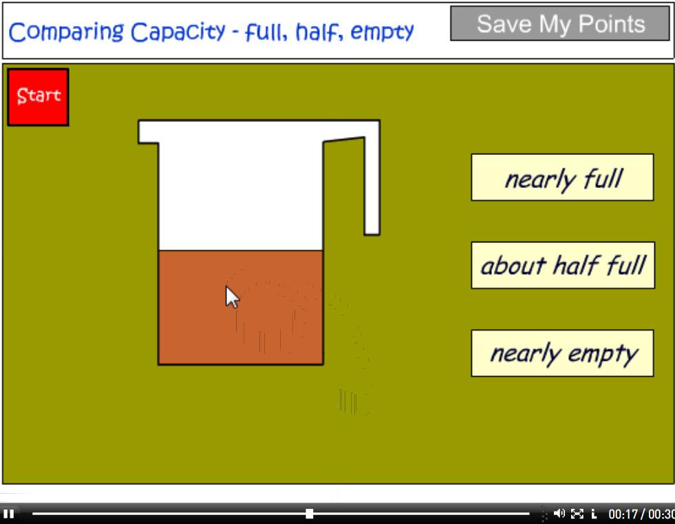 Comparing capacity - full, half or empty tutorial