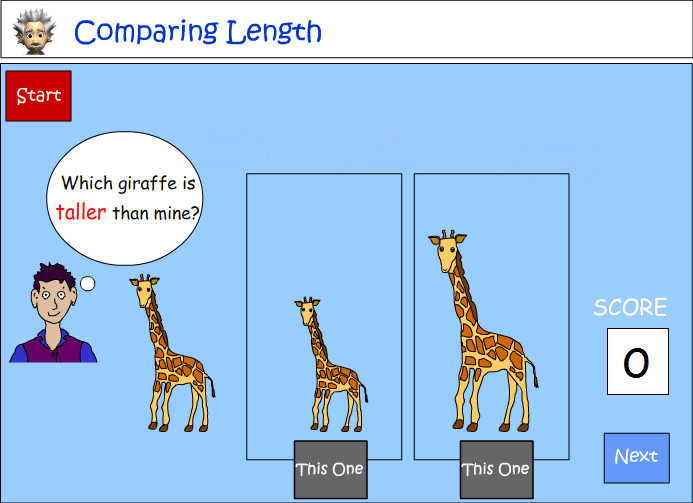 Language to describe and compare length
