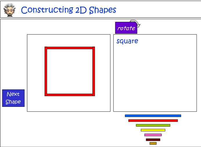 Constructing 2D shapes