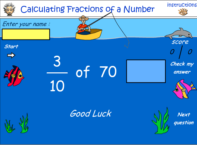 Calculating the fraction of number