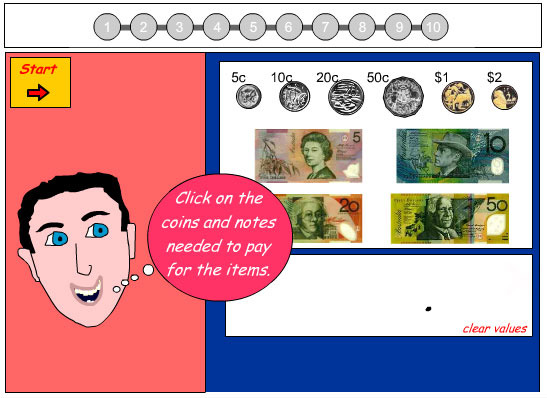 Using Notes and Coins to Make Purchases