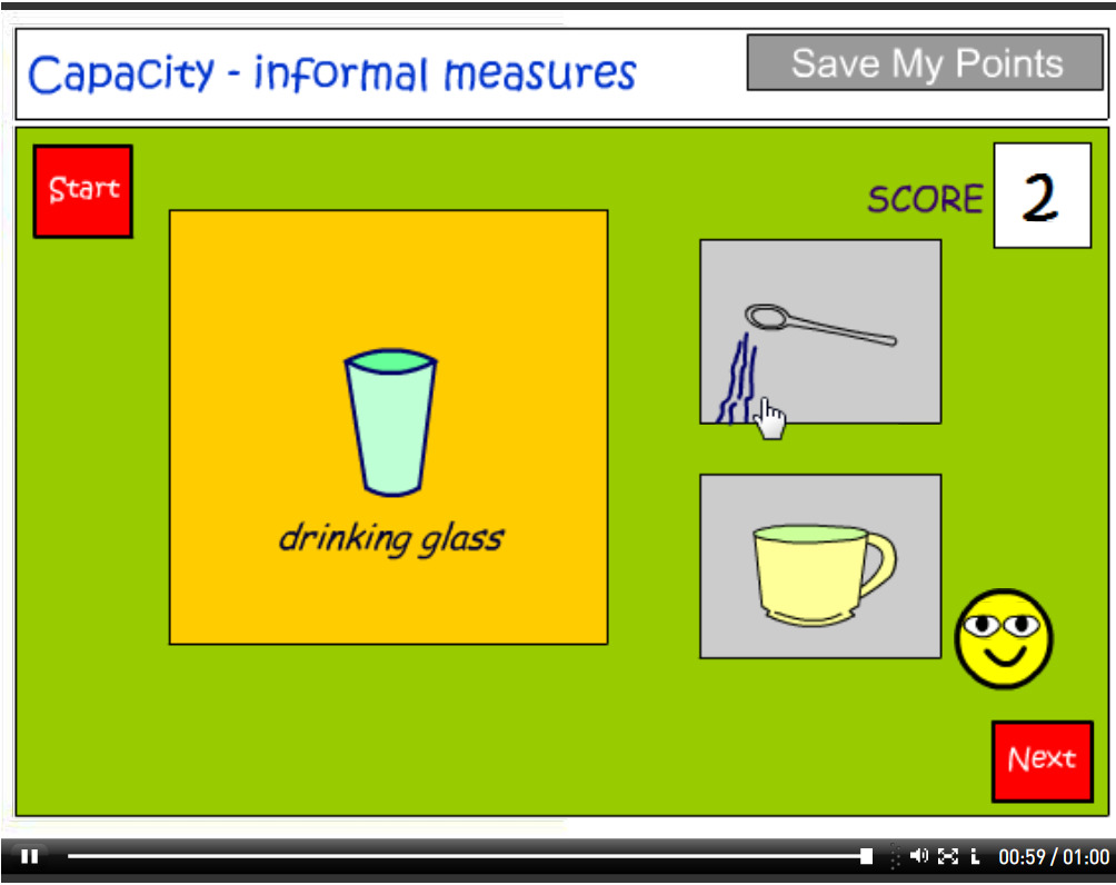 Measuring capacity using informal units tutorial