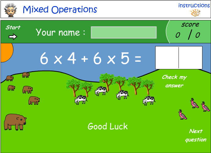 Mixed number operations - combination 7