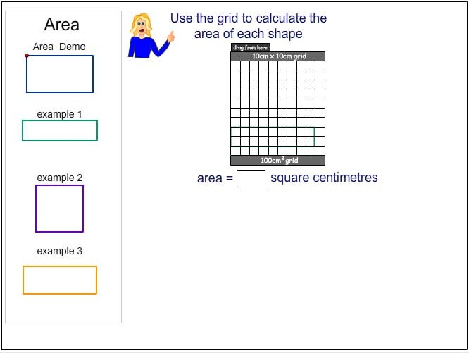 Calculating Area using a Square Centimetre Grid