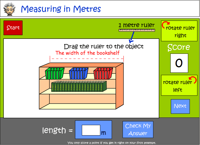 Measuring length in metres