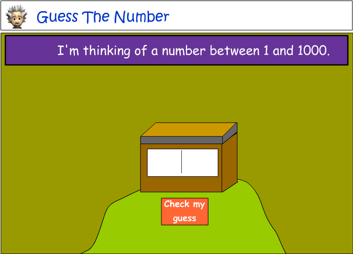 Number guessing game - numbers to 1000