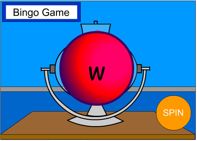 Bingo Game Wheel: Spelling and Lower CaseLetters