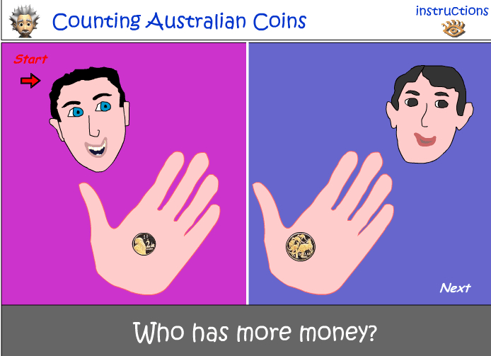 Comparing the value of coins