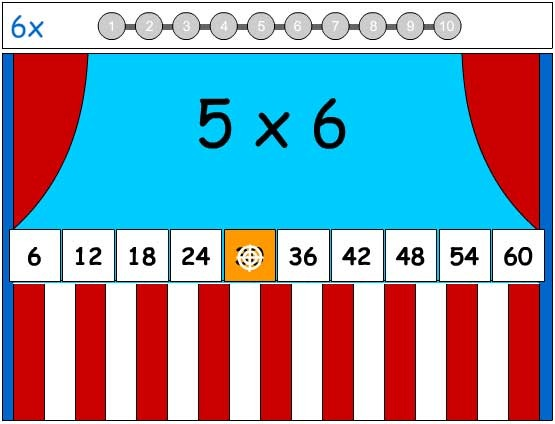 6X Tables Game - Learn the Number Facts