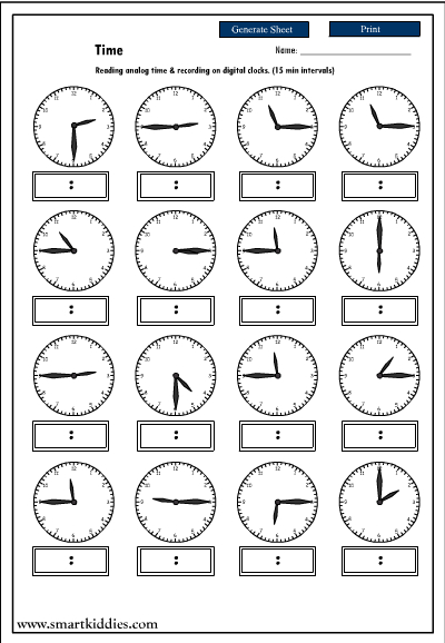 recording digital time after reading an analog clock  mathematics skills online  interactive