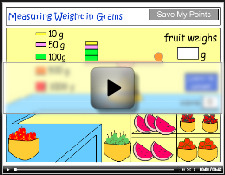 Measuring the weight of fruit in grams (g) - tutorial
