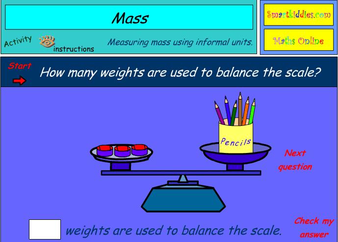 Measuring mass using informal units