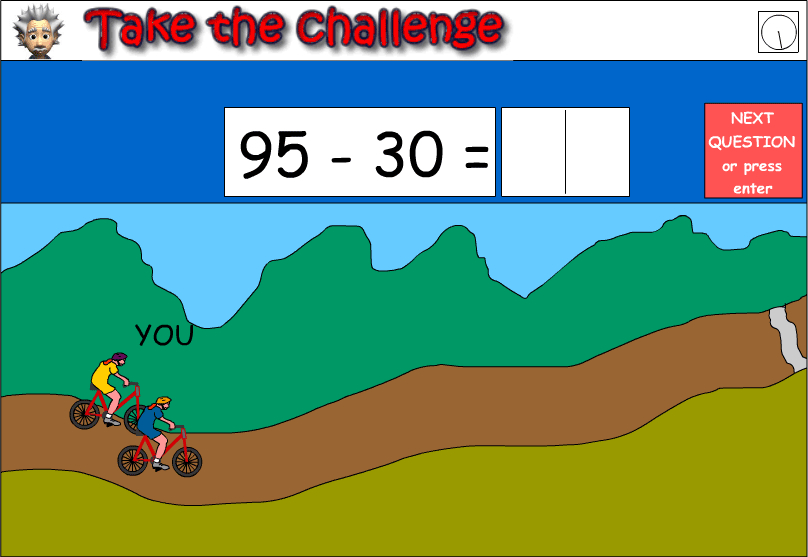 Subtract 30 from numbers under 100