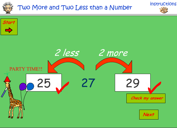 Count on and back by 2 - numbers up to 30