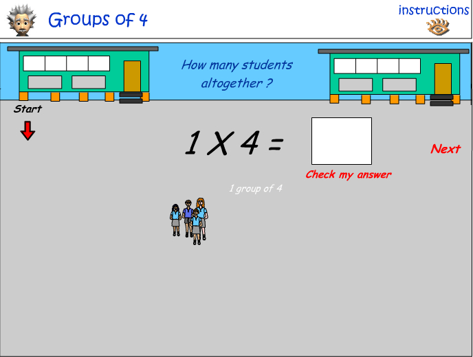 Groups of four