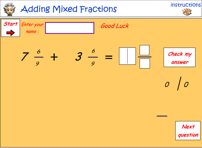 how to add fractions with same denominators
