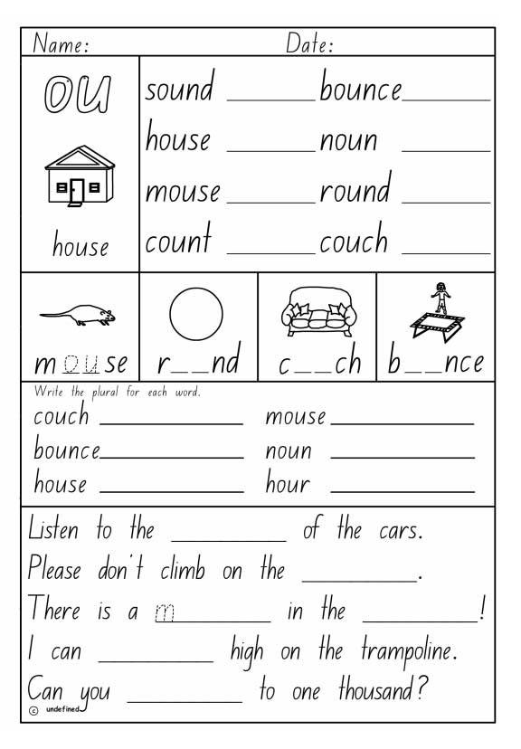 Free Worksheets study ladder worksheets : Vowel Digraph u0026quot;ouu0026quot;, English skills online, interactive ...