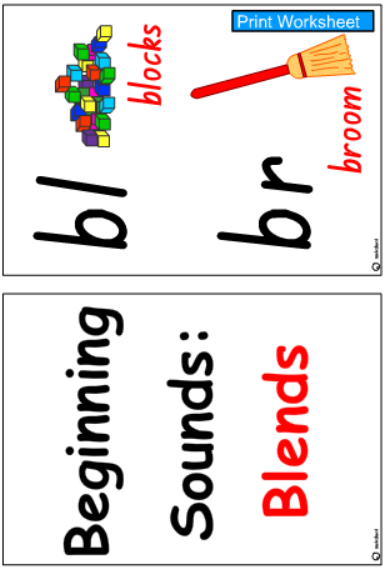 Initial Blends Cards- Colour