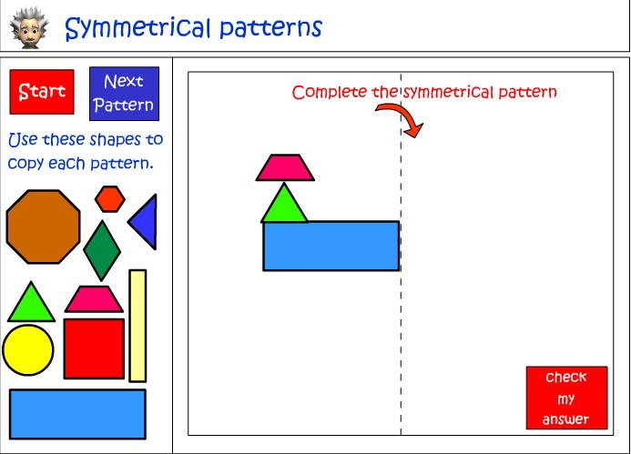 Creating symmetrical patterns