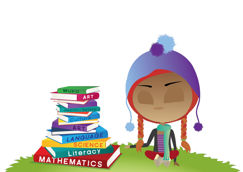 girl and books background image
